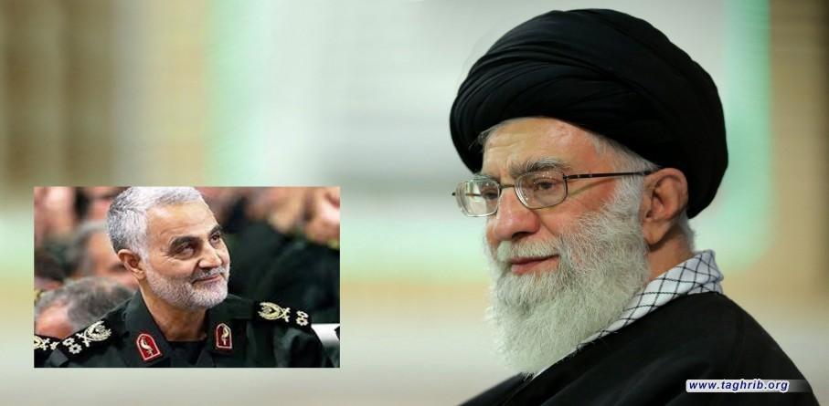 """الامام الخامنئي يمنح وسام """" ذوالفقار"""" لـ اللواء قاسم سليماني + صور"""