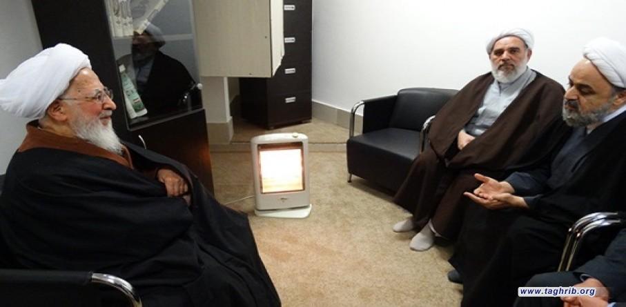 الأمين العام للمجمع العالمي للتقريب بين المذاهب الإسلامية يلتقي آية الله جوادي آملي