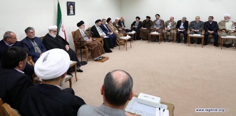 رهبر معظم انقلاب اسلامی در دیدار مسئولان حج: ایستادگی ملت ایران آمریکا را عصبانی کرده و برای دنیا جذاب است