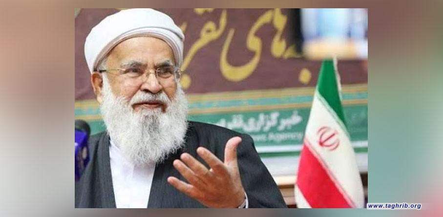 مولوي اسحاق مدني : وحدة الامة بكل طوائفها سر إنتصار الثورة الاسلامية