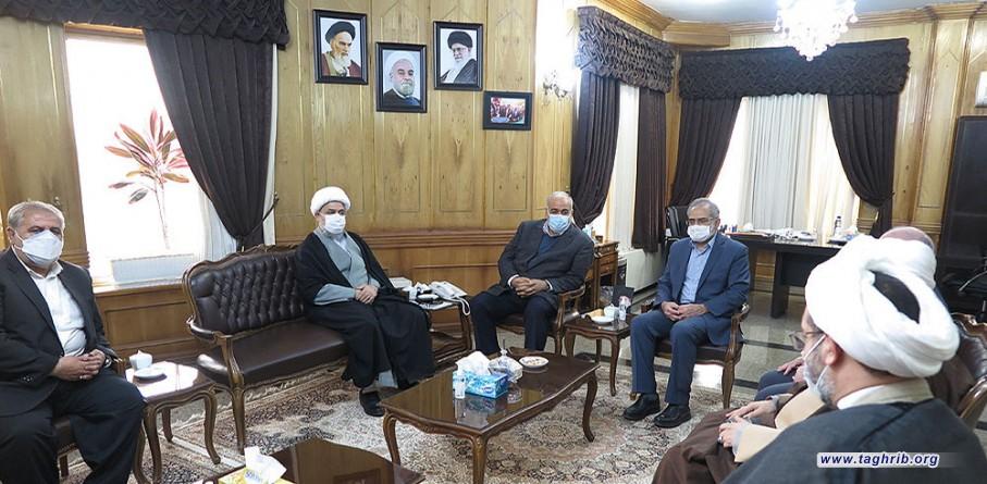 دبیر کل مجمع جهانی تقریب مذاهب اسلامی با استاندار کرمانشاه دیدار کرد