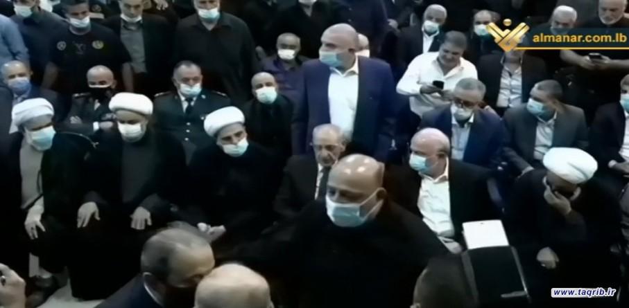 با حضور دبیرکل مجمع جهانی تقریب: پیکر شیخ عبدالامیر قبلان تشییع شد