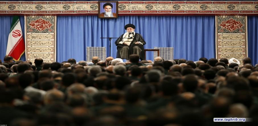 لقاء أعضاء المجلس الأعلى لقادة حرس الثورة الإسلامية مع القائد العام للقوات المسلحة الإمام الخامنئي
