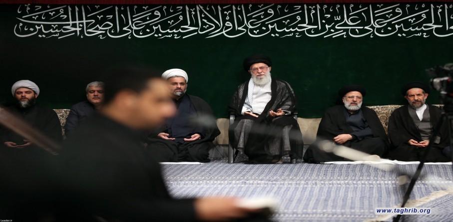 قائد الثورة الإسلامية المعظم يشارك في مراسم عزاء أربعينية الإمام الحسين (ع)