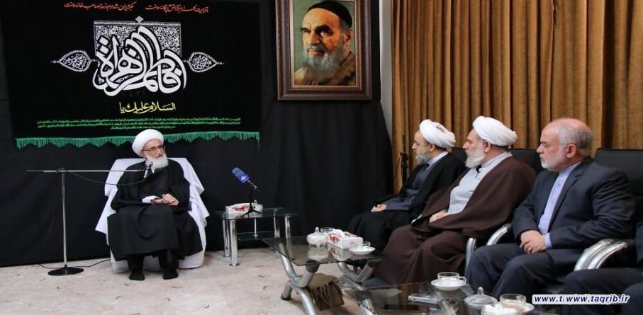 الامين العام للمجمع العالمي للتقريب المذاهب الاسلامية يلتقي مع المرجع الديني آية الله النوري الهمداني