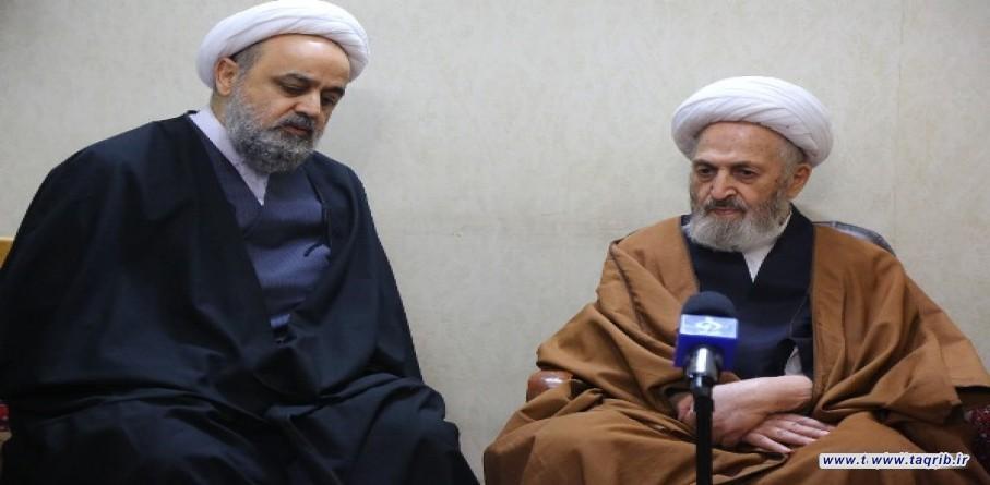 الامين العام للمجمع العالمي للتقريب المذاهب الاسلامية يلتقي مع المرجع الديني آية الله سبحاني