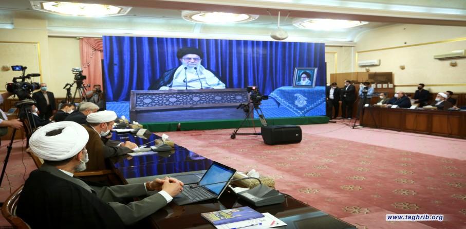 كلمة الإمام الخامنئي في اتّصال متلفز مع مؤتمر السلطة القضائية العام