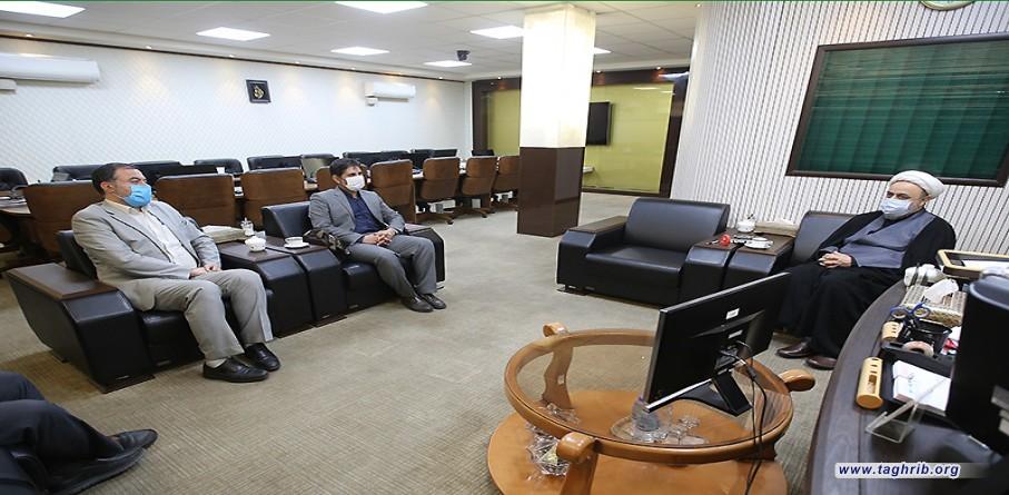 """حجة الاسلام و المسلمين الدكتور """"حميد شهرياري """" يستقبل السيد عصمتي و السید پور مرجان"""
