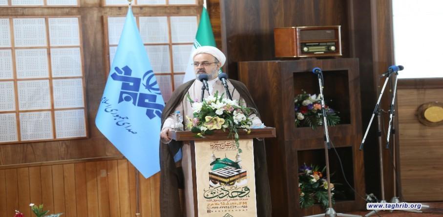 """حجة الاسلام و المسلمين الدكتور """"حميد شهرياري """" يشارك في مراسيم بدء اعمال إذاعة الوحدة الاسلامیة"""