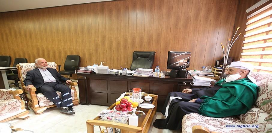 """الدكتور محسن مسجي يلتقي مع مدير دار العلوم احناف"""" تايباد """"مولوی فاضل حسینی"""