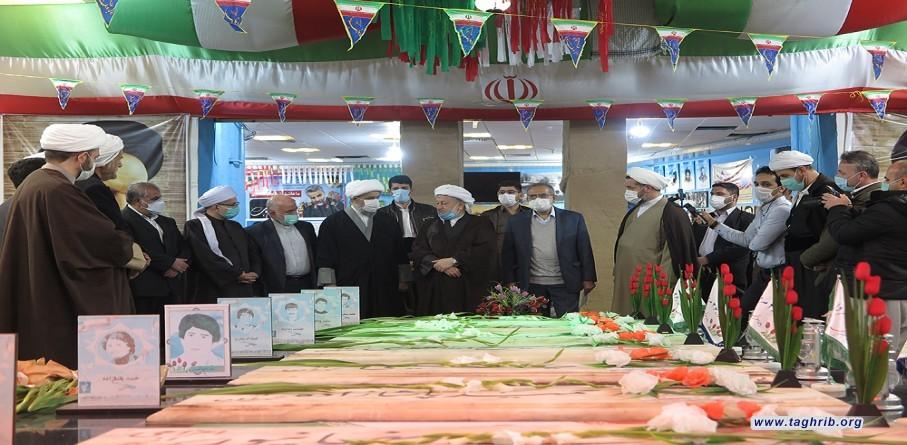 حضور الأمين العام للمجمع العالم للتقريب بين المذاهب الاسلامية في مقبرة شهداء السنة والشيعة في مدينة باوه