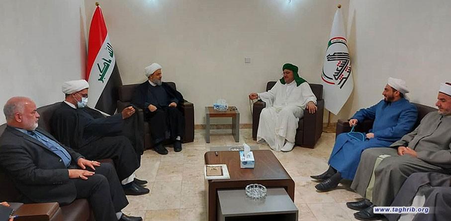 """الدكتور """"حميد شهرياري يلتقي مع رئيس علماء الرباط المحمدي في العراق"""
