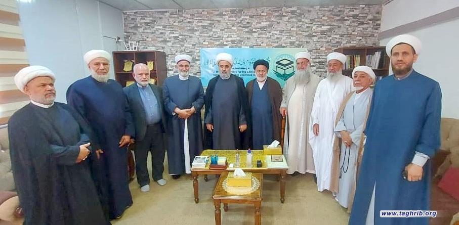 """الدكتور """"حميد شهرياري"""" يزور مكتب المجمع العالمي للتقريب في بغداد"""