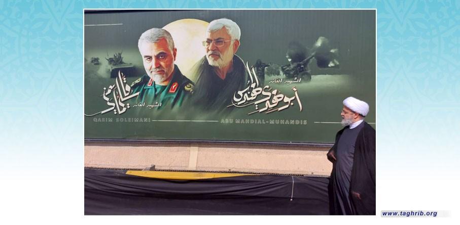 الأمين العام الدكتور شهرياري يزور مكان استشهاد القائدين سليماني والمهندس